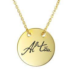 Lant cu banut personalizat aur galben