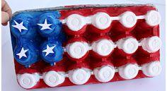 Egg Carton American Flag