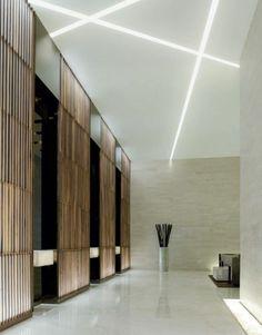 Faux plafond avec éclairage