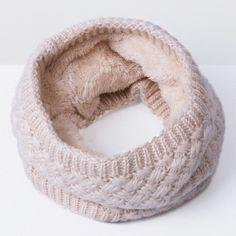 2016 New Fashion Women Scarf Unisex Winter Knitted Scarves Plus Velvet Cotton Neck Warmer Woman Crochet Ring Men Loop Scarf
