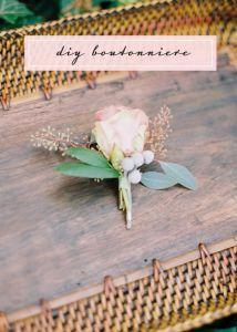 [DIY] Boutonnière pour lui-pour eux #DIY #mariage #wedding