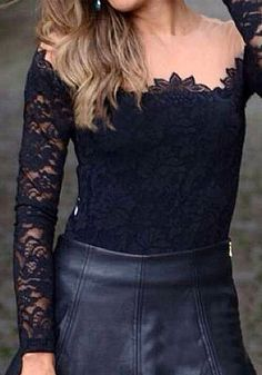 Attention-Getter Lace Top