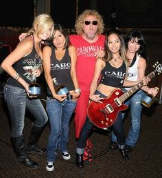 Sammy Hagar married 43 years and recording hits since 1973.  Support CABOWABO