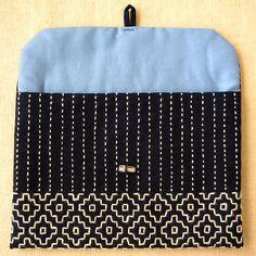Indigo Button-Closure Pouch (Pale blue) | aya*studio | Flickr