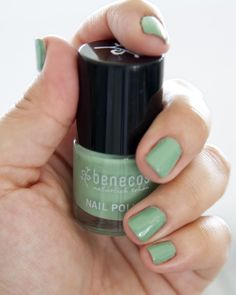 Benecos Happy Nails Nail Polish in Expressive Mint - Free from toluene, camphor, phthalates or formaldehydes. Cruelty-free, gluten-free, & vegan!
