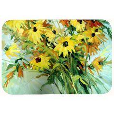Caroline's Treasures Wildflower Bouquet Flowers Kitchen/Bath Mat Size: 2
