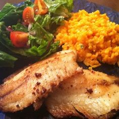 Lemon Pepper Tilapia with Mexican Fried Rice