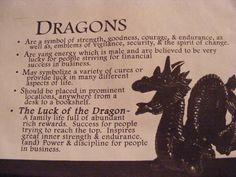 The symbolic meaning of dragons...