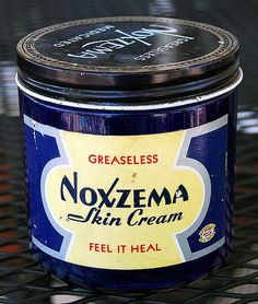 In a blue glass jar.My mom had Noxzema. Me & my friend put it on our face and I broke out with a rash. My Childhood Memories, Sweet Memories, Summer Memories, Procter And Gamble, Vintage Packaging, I Remember When, Lounge, Good Ole, Skin Cream