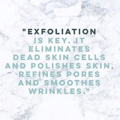 Exfoliation is a MUST in your skincare routine. -------- • -------- Cilt…