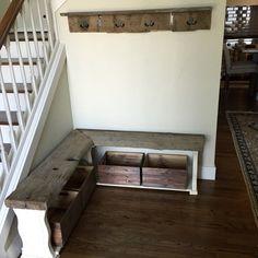 Reclaimed barn wood entryway. Coeur D'alene, Reclaimed Barn Wood, House Projects, Entryway, Stairs, Home Decor, Entrance, Stairway, Decoration Home