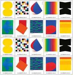 Are These New Ellsworth Kelly Stamps the Most Beautiful Stamps Ever? Kelly Stamps, Blanton Museum, Ellsworth Kelly, Artist Birthday, Great Paintings, Oui Oui, Fantastic Art, Vincent Van Gogh, American Artists