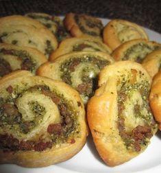 Pesto Sausage Pinwheels. Great easy appetizer.