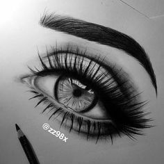 Eye drawing by @zz98x Use #artdiscover 100k contest soon by art.discover