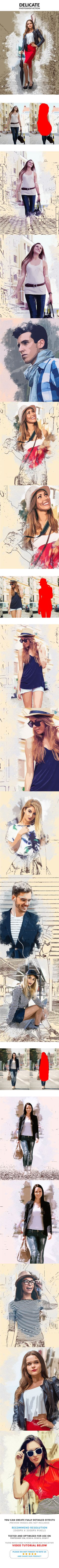 Delicate #Photoshop #Action - Photo Effects Actions