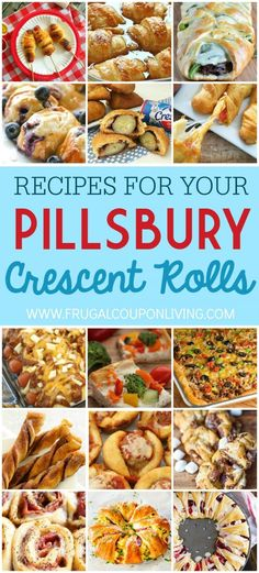 Pillsbury Crescent Rolls Recipes - Crescent Roll Ideas for Entrees, Snacks…