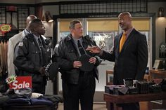"""Lamont Thompson, Reno Wilson, and Billy Gardell in Mike & Molly from """"Mike Likes..."""