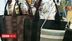 'Handbag Oscars': Bag made from seatbelts wins for Suffolk designers - BBC News