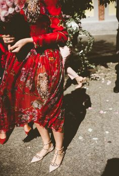 non-traditional wedding dress for a milan wedding | image via: junebug weddings