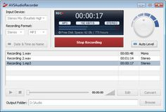AVS Audio Recorder. Record audio data to PC from any input - line in, CD, Microphone, video, and so on.