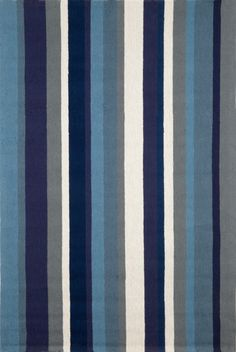 Marine Vertical Stripe Area Rug - Indoor-Outdoor Rugs - Coastal Area Rugs - available in several sizes!