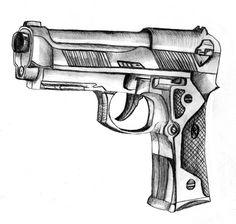 Cool Drawings Of Guns | gun sketch by CcHIKAA on deviantART