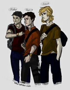 The Sassy (Minho), Refuse to listen (Thomas) and Mother Hen (Newt, cause thats basically what he is) trio.