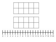 Free!  Double Ten Frame + Number Line Mat