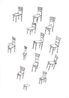 97 - Skizze -Stuhl