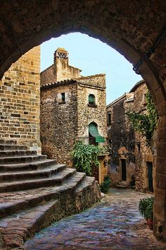 The village of Madremanya,  in Catalonia Find out more about our self guided cycling tours in Europe on our website http://www.discoverfrance.com/spain/self-guided/catalonia-culture-heritage