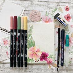 """Melanie 🇨🇭 auf Instagram: """"Ich habe mich mal mit dem neuen @mayandberry Tombow Set ausgetobt 🤩 meine Erkenntnis: mehr mit wasserlöslichen Stiften verblenden! Der neue…"""" Tombow, Instagram, Design, Watercolour, Design Comics"""