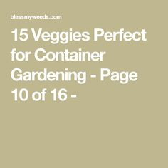 15 Veggies Perfect for Container Gardening - Page 10 of 16 -