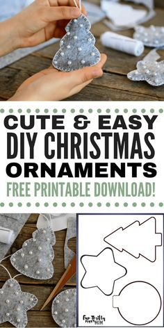 DIY Easy Felt Christmas Ornaments, DIY and Crafts, DIY felt Christmas ornaments. These easy to make yourself ornaments are perfect as inexpensive christmas gifts, or as cherished keep sakes for your fa. Handmade Christmas Decorations, Christmas Ornament Crafts, Noel Christmas, Simple Christmas, Holiday Crafts, Decoration Crafts, Christmas Crafts Sewing, Easy Ornaments, Easy To Make Christmas Ornaments