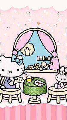 hello kitty#kitty控#高清 手机屏保(•ؔʶ̷ ˡ̲̮ )-堆糖,美好生活研究所