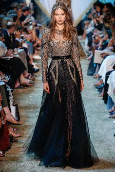 Elie Saab Fall 2017 Couture Fashion Show - Sara Witt