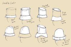 Shapes of Bespoke Hats by Joanne Rost - The Hat Maker