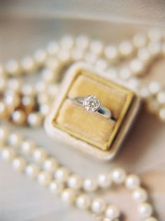 Classic solitaire platinum engagement ring: Photography : Perry Vaile Photography