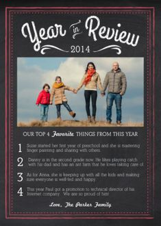 Chalk Year in Review Card