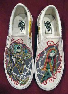 A Nighmare Before Christmas painted art on VANS shoes