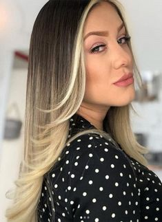 Top Bayalage Hair Color 2018 The Many Different Options - Fashionre Ombre Hair Color For Brunettes, Brown Ombre Hair, Brunette Color, Blonde Brunette, How To Bayalage Hair, Balayage Hair Blonde, Medium Hair Styles, Curly Hair Styles, Pixie
