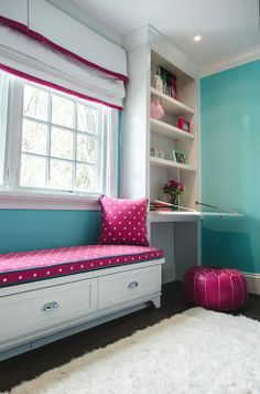 tween room turquoise | Evars and Anderson: Fun girls room with pink, white and turquoise ...