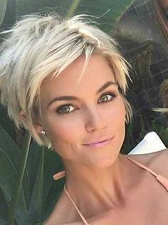 """Résultat de recherche d'images pour """"coupe de cheveux COURT BLOND femme VISAGE ROND"""""""