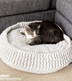 Free Crochet Cat Bed Pattern 10 Awesome Crochet Cat Bed Free Patterns Crochet Patterns And. Free Crochet Cat Bed Pattern 30 Easy Crochet Projects With Free… Continue Reading → Crochet Home, Crochet Gifts, Free Crochet, Knit Crochet, Ravelry Crochet, Crochet Cat Beds, Pet Beds, Dog Bed, Yarn Projects