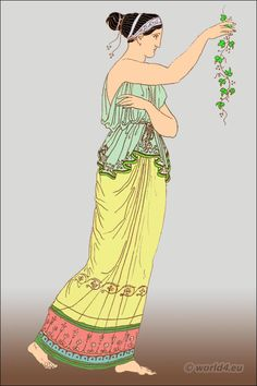The Ancient Greek Costume. The Tunic or Chiton.