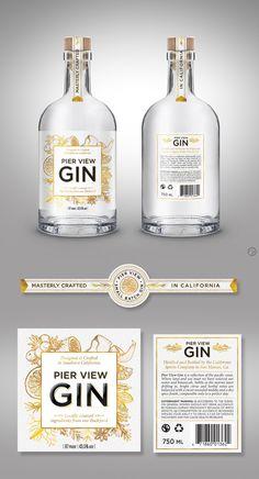 Winning Gin label design   99designs
