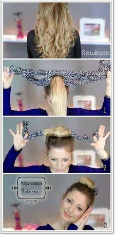 Puntas onduladas, consigue este peinado sin usar calor, encuentra esta y otras opciones para ondular tu cabello, sin maltratarlo...http://www.1001consejos.com/ondas-sin-calor/