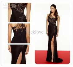 Wholesale Prom Dress - Buy 2013 New Arrive Elegant Applique Lace Slit Mermaid Evening Dresses Party Gown Sexy Prom Dress S716, $106.73   DHgate