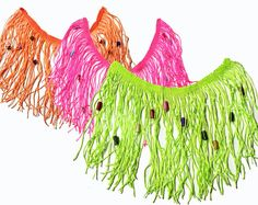 3 color Fringe Tassels Trim Ribbon with Beads for Fashion Crafts 1 yard on Etsy, 25.02₪