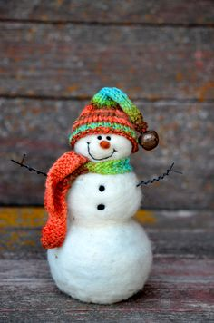 Snowman Felted by BearCreekDesign