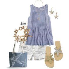 Cute beach outfit!!